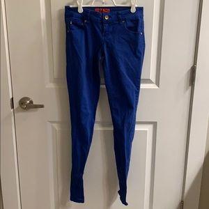 Zanadi blue straight leg pants